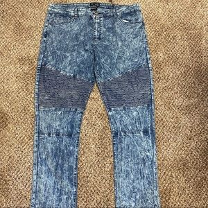 Brooklyn Express 40x32 Skinny Fit Moto Jeans
